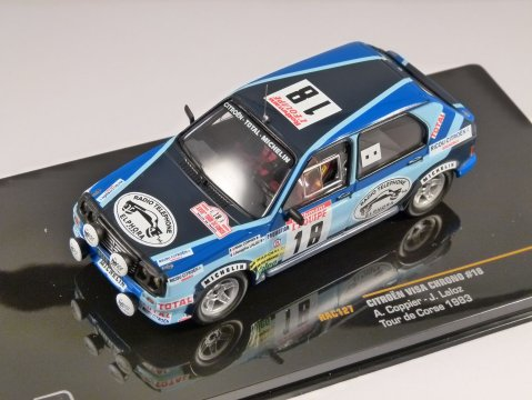 1983 CITROEN VISA CHRONO Tour de Corse 1/43 scale model by IXO