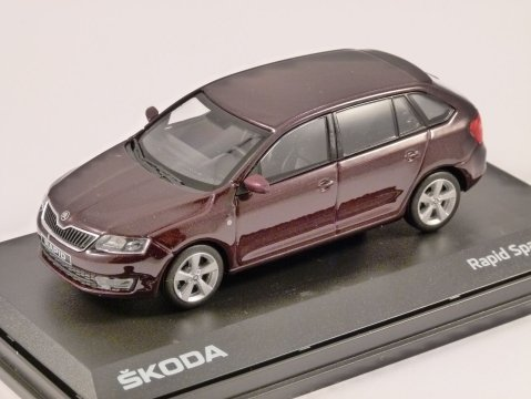 SKODA RAPID SPACEBACK in Rosso Brunello 1/43 scale model ABREX