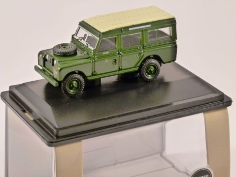 LAND ROVER S2 LWB SW Home Counties Infantry - 1/76 scale model OXFORD DIECAST