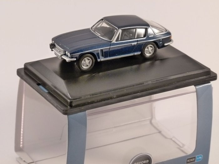 JENSEN INTERCEPTOR in Royal Blue 1/76 scale model OXFORD DIECAST
