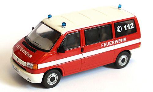 VOLKSWAGEN T4 Bus - Feuerwehr - 1/43 model PREMIUM CLASSIXXS