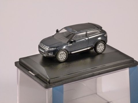 RANGE ROVER EVOQUE in Baltic Blue 1/76 scale model OXFORD DIECAST