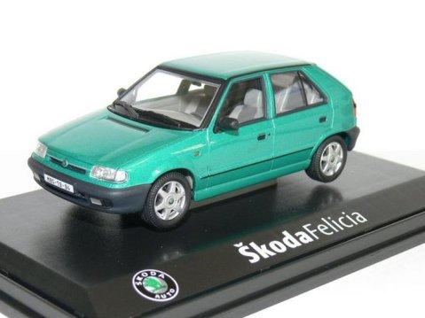 1994 SKODA FELICIA 1.3 GLXi in Pacific Green 1/43 scale model ABREX