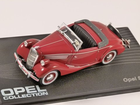 1937 - 38 OPEL SUPER 6 in Dark Red 1/43 scale model ALTAYA