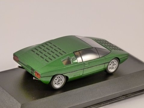 1974 LAMBORGHINI BRAVO in Green 1/43 scale model by Whitebox
