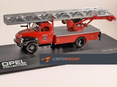 OPEL BLITZ FEUERWEHR Turntable Ladder Fire Truck 1/43 scale model ALTAYA