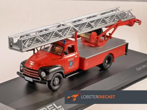 OPEL BLITZ FEUERWEHR Turntable Ladder Fire Truck 1/43 scale model ALTAYA