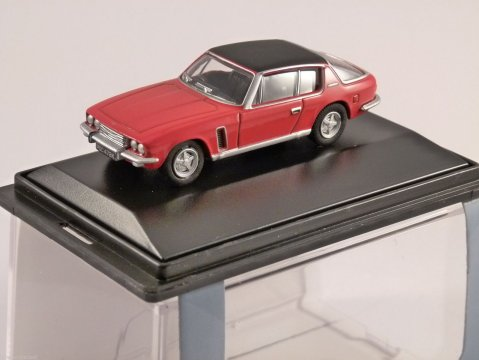 JENSEN INTERCEPTOR in Flag Red 1/76 scale model OXFORD DIECAST