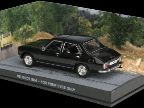 PEUGEOT 504 - For Your Eyes Only - 1/43 scale model James Bond Collection