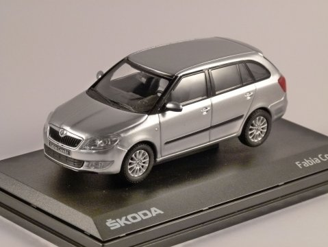 2010 SKODA FABIA II COMBI in Silver 1/43 scale model by ABREX