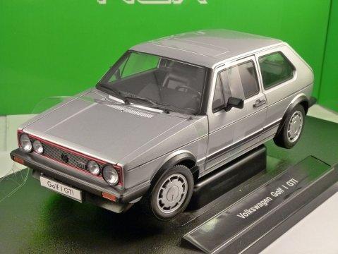 VOLKSWAGEN GOLF Mk1 GTi in Silver 1/18 scale model by WELLY
