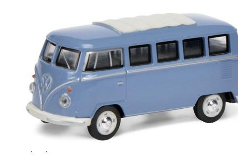 Schuco VOLKSWAGEN T1 in Blue - 1/64 scale model
