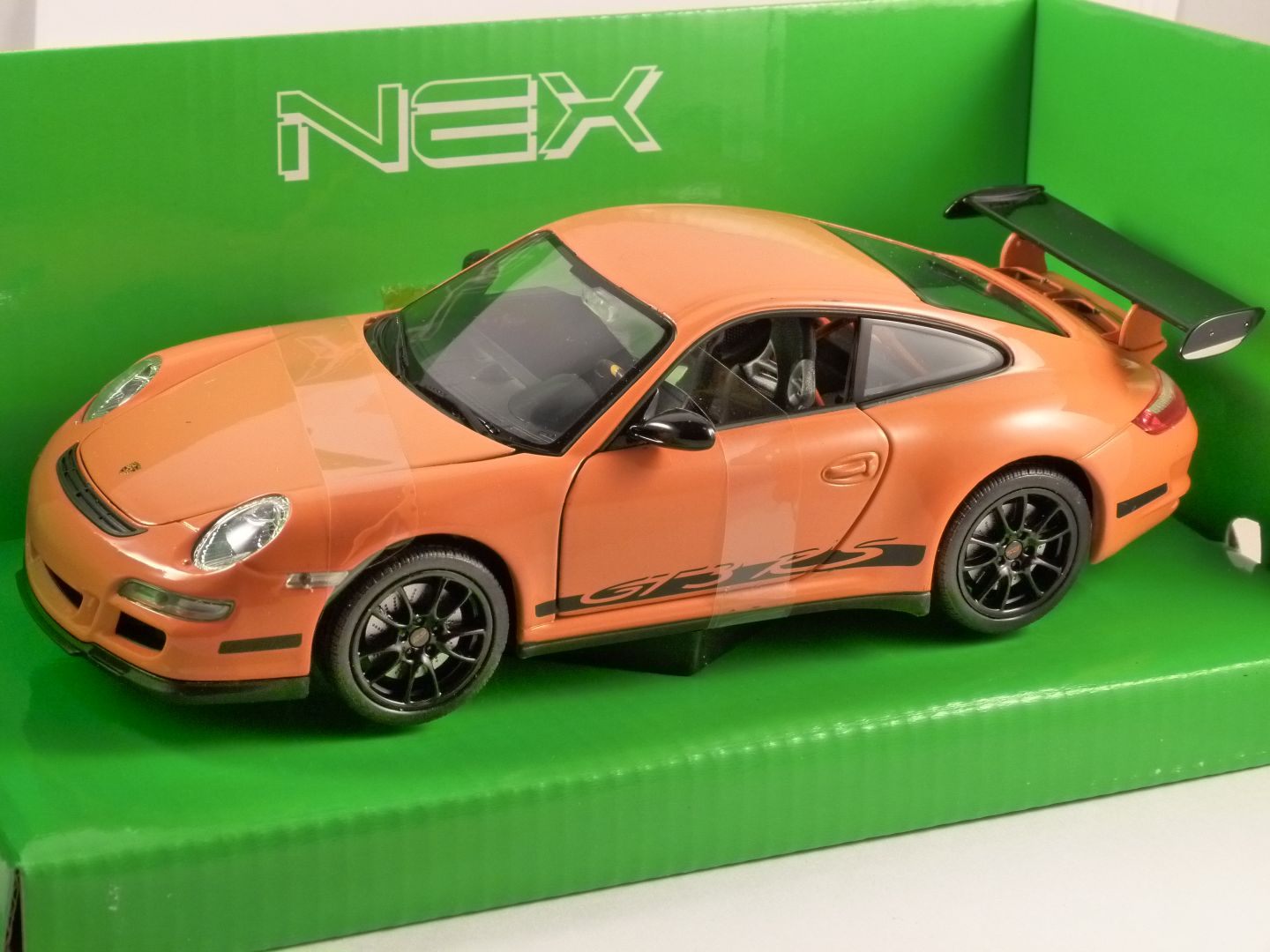 Porsche 911 Gt3 Rs 997 In Orange 1 24 Scale Model By Welly