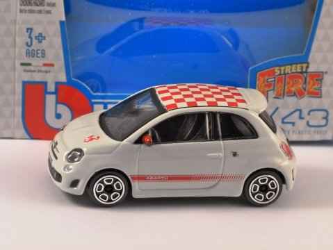 FIAT ABARTH 500 in White - 1/43 scale model by Burago