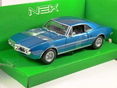 1967 PONTIAC FIREBIRD in Blue 1/24 scale model by WELLY