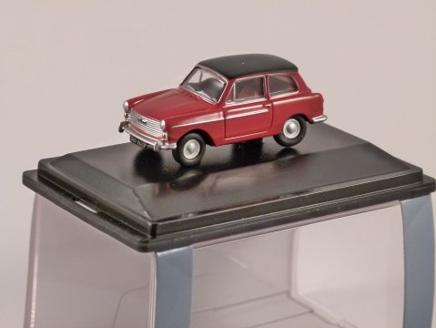 AUSTIN A40 MkII in Red / Black 1/76 scale model OXFORD DIECAST