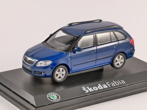 SKODA FABIA II COMBI in Blue Dynamic 1/43 scale model ABREX