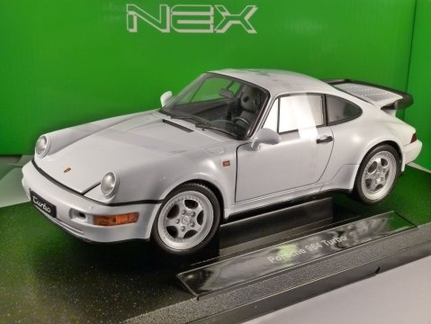 PORSCHE 911 964 TURBO in White 1/18 scale model by WELLY