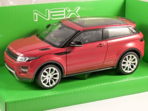 LAND ROVER RANGE ROVER EVOQUE in Red 1/24 scale model by WELLY