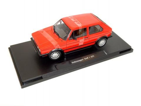VOLKSWAGEN GOLF Mk1 GTi in Red 1/18 scale model by WELLY