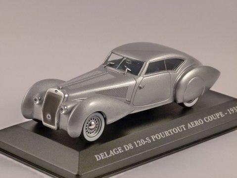1938 DELAGE D8 120-S Pourtout Aero Coupe 1/43 scale model ALTAYA
