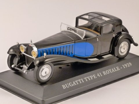 1929 BUGATTI TYPE 41 ROYALE 1/43 scale model ALTAYA