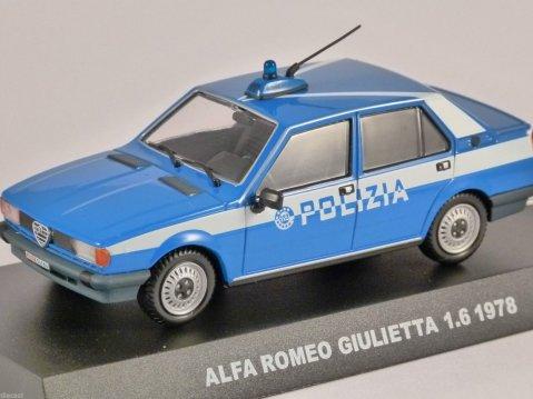 1978 ALFA ROMEO GIULIETTA 1.6 POLIZIA 1/43 scale partwork model