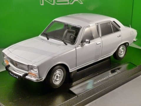 1975 PEUGEOT 504 in White 1/18 scale model by WELLY