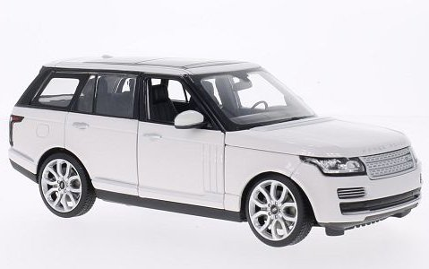 2012 RANGE ROVER in White 1/24 scale model by RASTAR