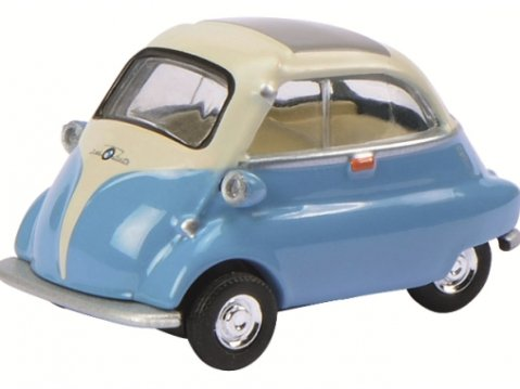 Schuco BMW ISETTA in Blue / Beige - 1/64 scale model