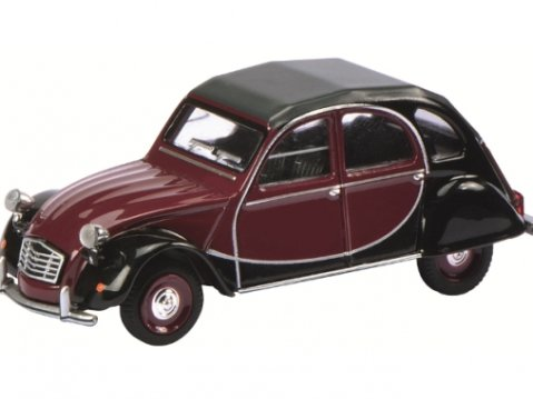 Schuco CITROEN 2CV CHARLESTON in Red / Black - 1/64 scale model