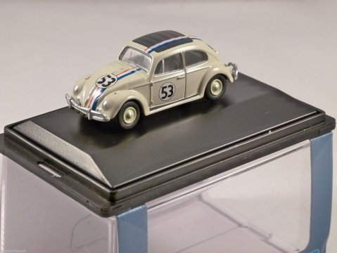VOLKSWAGEN BEETLE - HERBIE - 1/76 scale model OXFORD DIECAST