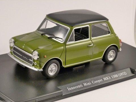 1972 INNOCENTI MINI COOPER Mk3 1300 in Green 1/24 scale model