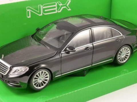 MERCEDES BENZ S CLASS (W222) in Black 1/24 scale model by WELLY