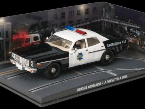 DODGE MONACO POLICE - A View To A Kill - 1/43 scale model James Bond Collection