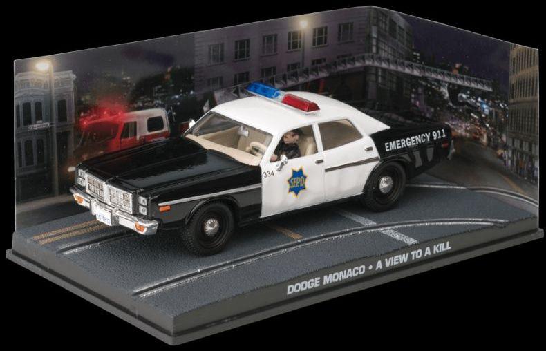 DODGE MONACO POLICE - A View To A Kill - 1/43 scale model James Bond Collection
