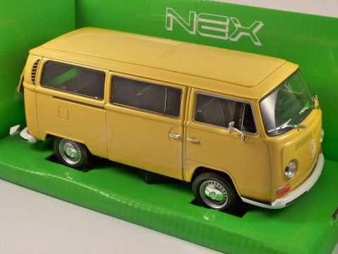 1972 VOLKSWAGEN T2 BUS in Yellow 1/24 scale model by WELLY