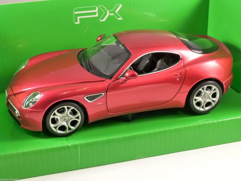 ALFA ROMEO C COMPETIZIONE In Red Scale Model By WELLY - Alfa romeo scale models