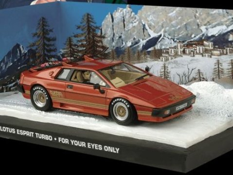 LOTUS ESPRIT TURBO Bronze - For Your Eyes Only - 1/43 scale model James Bond