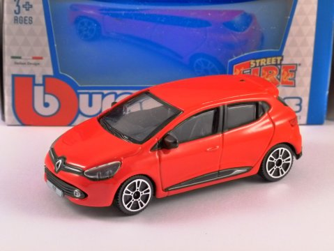 2013 RENAULT CLIO in Red - 1/43 scale model by Burago