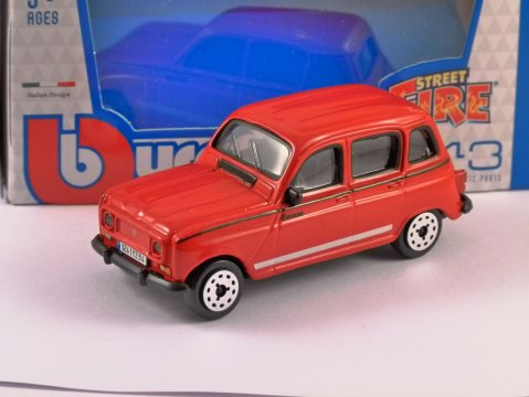 RENAULT 4 SAVANE in Red - 1/43 scale model by Burago