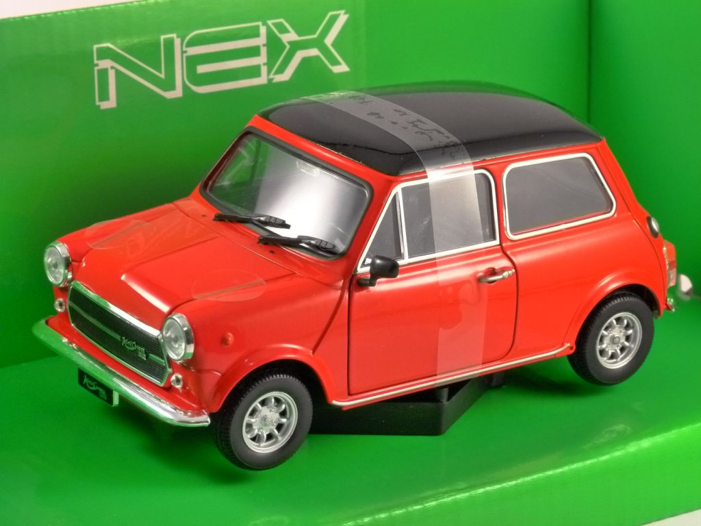 MINI COOPER 1300 in Red 1/24 scale model by WELLY