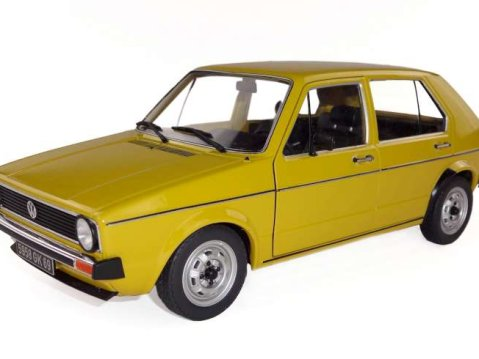 VOLKSWAGEN GOLF Mk1 5dr in Yellow 1/18 scale model by SOLIDO