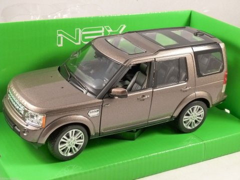 2010 LAND ROVER DISCOVERY 4 in Brown metallic 1/24 scale model by WELLY