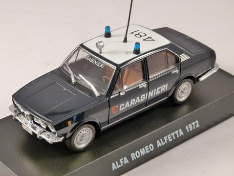 1972 ALFA ROMEO ALFETTA Carabinieri 1/43 scale partwork model