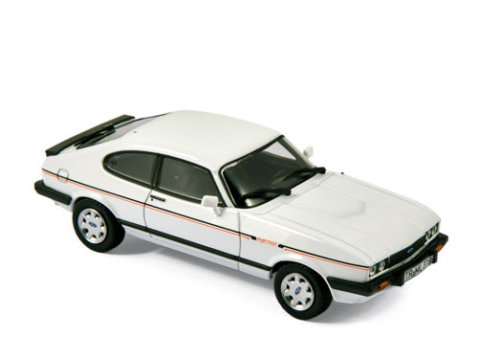 1984 FORD CAPRI 2.8 INJECTION in White - 1/43 scale model NOREV
