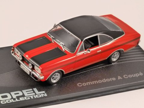 OPEL COMMODORE A COUSE GS/E in Red / Black 1/43 scale model ALTAYA
