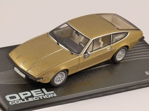 OPEL BITTER CD in Gold 1/43 scale model ALTAYA