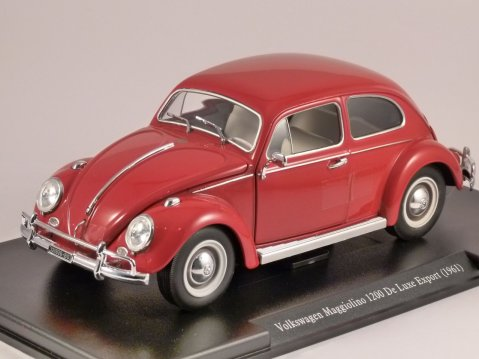 1961 VOLKSWAGEN BEETLE 1200 DE LUXE EXPORT in Red 1/24 scale partwork model