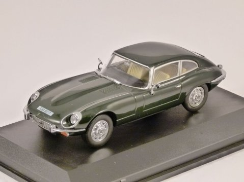 JAGUAR E TYPE V12 Coupe in British Racing Green 1/43 model OXFORD DIECAST